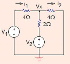 . Mesh Analysis 5 (d) If U = U/ = 0 V,R = kx, i ab ¼ 0 0 0 3 ¼ 0mA: Problem..3 In the circuit shown in Fig..38, use mesh currents method and find the value of voltage V x.