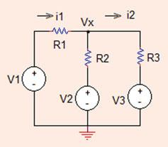 . Mesh Analysis 7 V x ¼ V V R ¼ :5 ¼ 0:75 V V R ¼ V x V ¼ 0:75 ¼ 0:5 V: Problem..6 Find the values of mesh currents and the node voltage in the circuit shown in Fig..40.