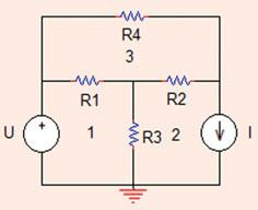 . Mesh Analysis 9 Fig..4 The circuit for Problem..8 KVL in mesh 3: i 3 R 4 þ ði 3 i ÞR þ ði 3 i ÞR ¼ 0 From (.59) and (.
