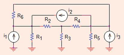 90 Analysis Methods Fig..8 The circuit of Problem..8 Problem..8 What is the voltage across resistor R 3 (in mv)?
