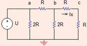 .3 Linearity and Superposition 45 Fig..6 The circuit for Problem.3.8 Let I x ¼ A; V b ¼ R ¼ 0 V V a ¼ U ¼ i ab R þ V b ¼ ð þ ÞR þ 0 ¼ 0 þ 0 ¼ 40 V: Since