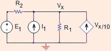 First, the current source is deactivated, and voltage source is transformed to current source.