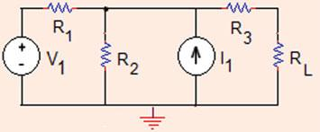 .5 Thévenin Norton Equivalent Circuits and Maximum Power Transfer 69 Fig.. The circuit for Problem.5.7 R ¼ R ¼ X; R 3 ¼ R L ¼ X; V ¼ V; I ¼ 0:5A: First calculate Thévenin resistance for the circuit to the left of R L (Fig.