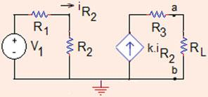 .5 Thévenin Norton Equivalent Circuits and Maximum Power Transfer 7 V Th ¼ V ab ¼ V cb ¼ R i þ ¼ 4 0:5 þ ¼ :5V: In summary, V Th ¼ :5V; R Th ¼ 4 X: Problem.5.9 For the circuit shown in Fig.