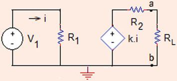 7 Analysis Methods Fig..9 The circuit for Problem.5.0 Problem.5.0 For the circuit shown in Fig..9, a.
