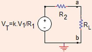 R L ) b. What is the Norton s equivalent circuit to the left of a bifv =V,k = V/V, R =0Ω, R =5Ω.