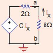 equivalent circuit = Thévenin equivalent circuit (Fig..38). Problem.5.8 In the circuit shown in Fig.