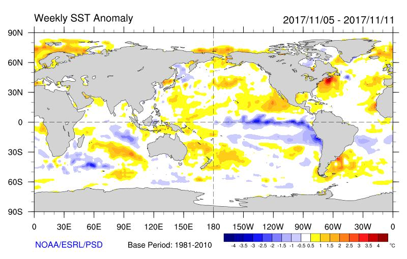 Global SST Anomalies Not much of a