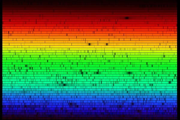lines in the solar spectrum using his invention, the Spectrometer