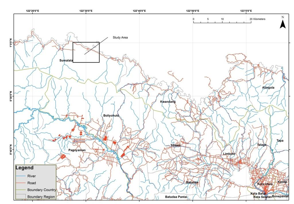 International Journal Engineering Science Applications Figure 1. The map study area. Sumalata District, North Gorontalo. Wobudu Breccia (Tpwv) composed specimen.