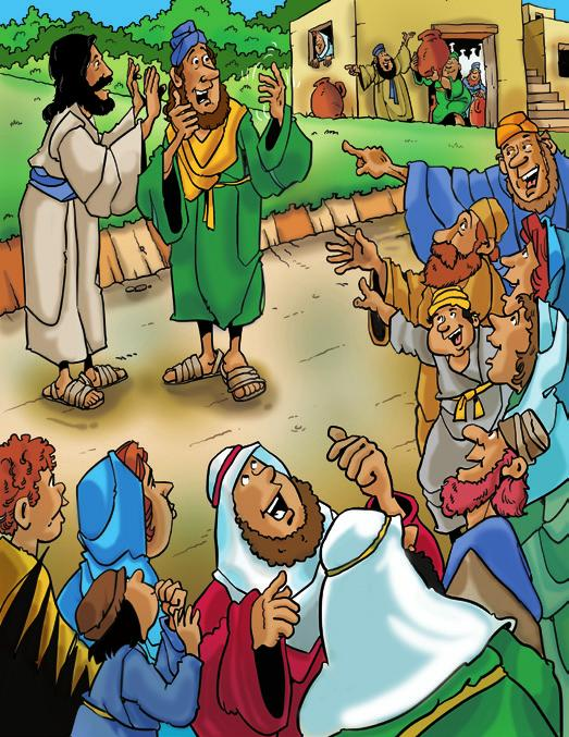 Jesus Heals a Blind Man Transitioning to Story Time When you sense the children are ready to move into group time, call them to the story corner, singing We are Blessed to Be a Blessing MM 10; SCM 29.