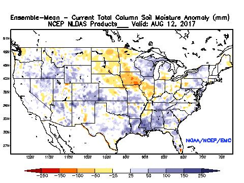 Current Soil Moisture Anomaly