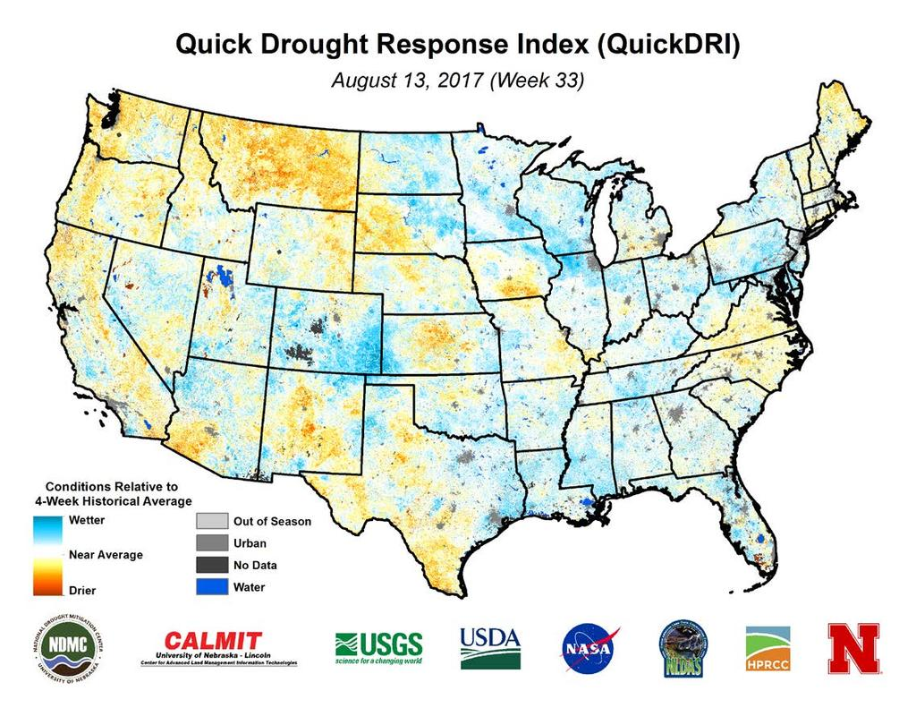 Quick Drought Response Index