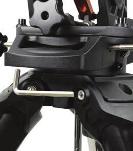 Remove the Tripod Support Nut and Washer from the central column attached to the top of the tripod (Figure 1.2). 3.