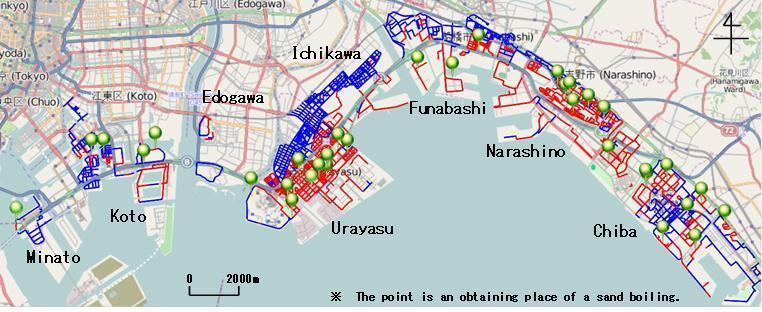 Moreover, a wide range liquefactions were observed in Ichikawa and Nrashino.