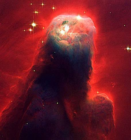 6 In sixth place is the Cone Nebula. The part pictured here is 2.