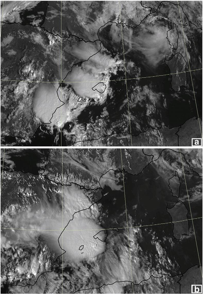 J.B. Cohuet et al. / Atmospheric Research 100 (2011) 603 620 609 Fig. 6. Meteosat HRV images at (a) 0915 UTC and (b) 1500 UTC on 4