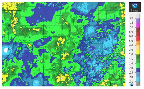 month's precipitation as a percent of average water year to date precipitation as a percent of average.
