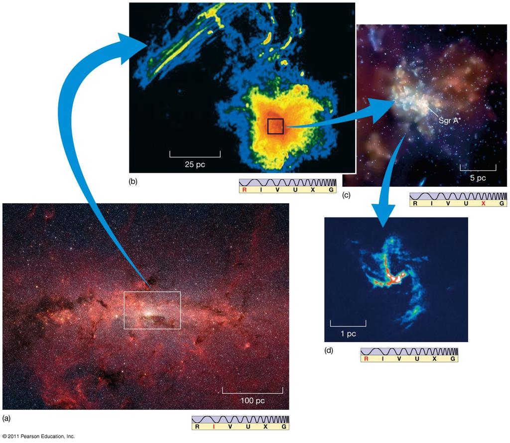 23.7 The Galactic Center These images in infrared,