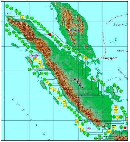 (~700 abandoned well in Sumatera only) Regional Heat flow map is