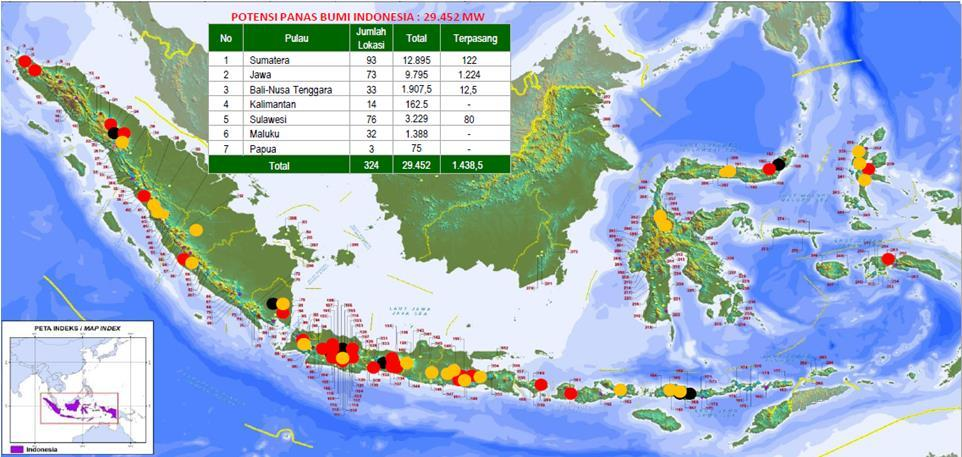 Current Condition of Indonesian Geothermal Resources Sources : MEMR, 2016 GWA Producer GWA Un-Producer GWA in bidding 330 Prospects 69 (<21%) Geothermal Working Areas (GWA) 11