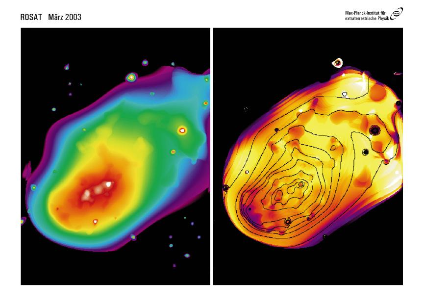 Merging Galaxy Clusters Large scale