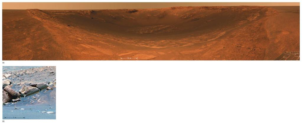 10.5 Water on Mars The landing site for Opportunity was chosen