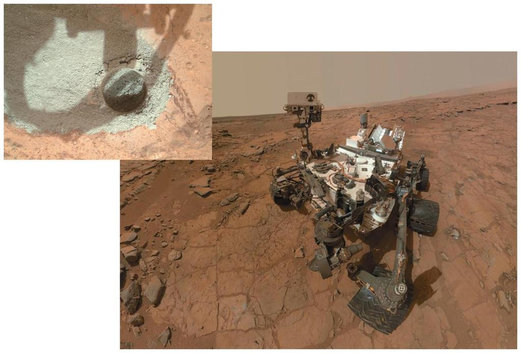 10.5 Water on Mars The Curiosity rover landed on Mars in 2012, and is
