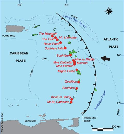 3. The Caribbean Islands are a great place to visit when the prairie winter kicks in. They are also very interesting geologically.