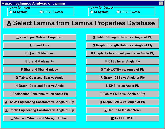 A Quick Example Task: Consider a typical Graphite/Epoxy lamina, find the optimum fiber angle for a load with the following stress components.