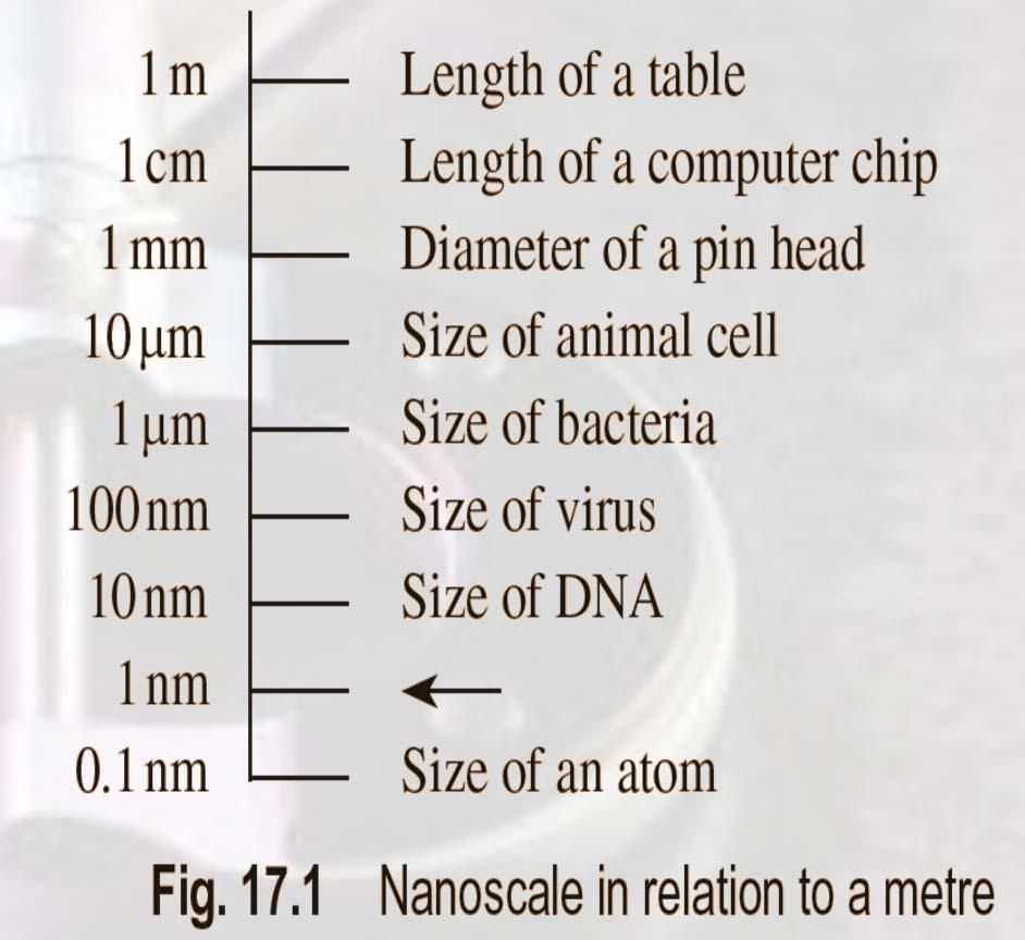 Introduction Nanometrology is the science of measurement at the nanoscale level. Figure illustrates where nanoscale stands in relation to a meter and sub divisions of meter.