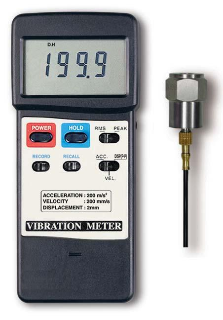 Acceleration/Velocity/Displacement VIBRATION METER Model : VB-8220 Your purchase of this VIBRATION METER marks a step forward for you into the field of precision measurement.