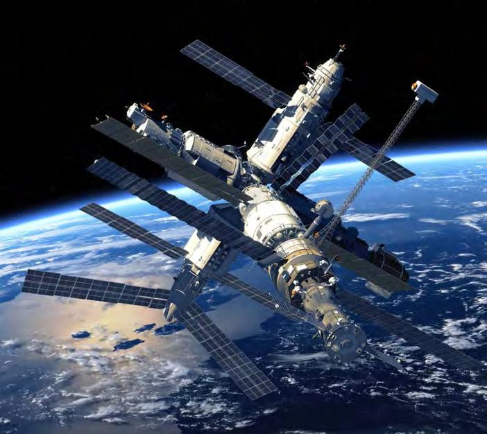 The International Space Station The Interna*onal Space Sta*on (ISS) travels