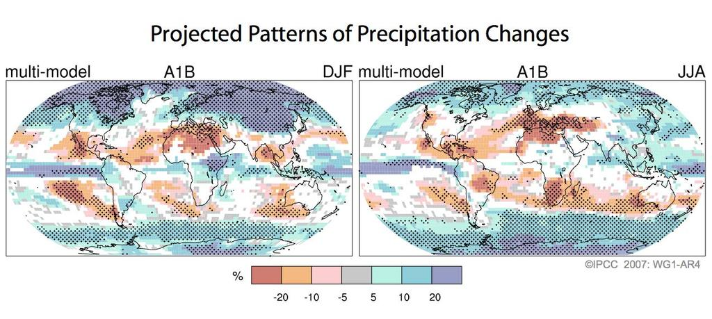 Projections of Future Changes in Climate Precipitation increases very