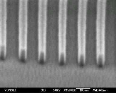 nm 50-60 nm residual layer thickness