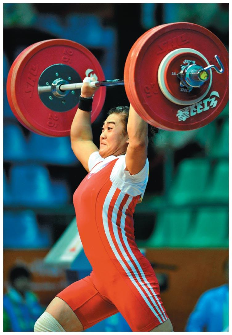 Work Example: a weightlifter raising a barbell from the floor