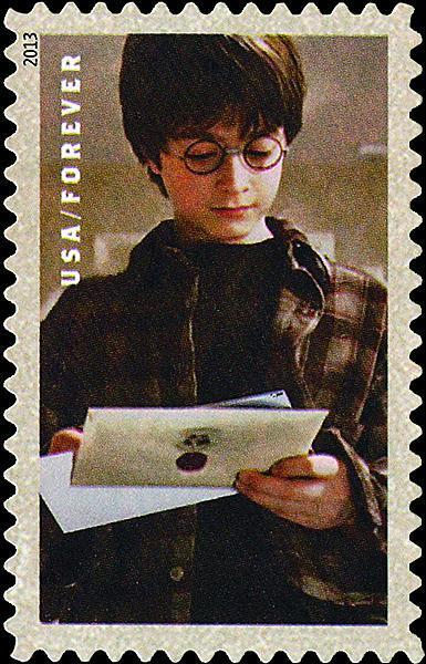 In 2013, the United States Postal Service issued a set of Harry Potter stamps. Hidden on seven of the stamps are tiny words called micro printing. These can be seen using a magnifying glass.