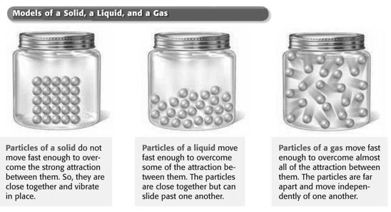 States of Matter Preview Bellringer Section 2 Behavior of Gases In the kitchen, you might find three different forms of water.