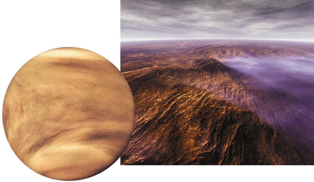 Venus Average distance from Sun: 0.72 UA Radius: 6051 km, 0.95 earth radius Mass:0.82 earth mass Average density; 5.