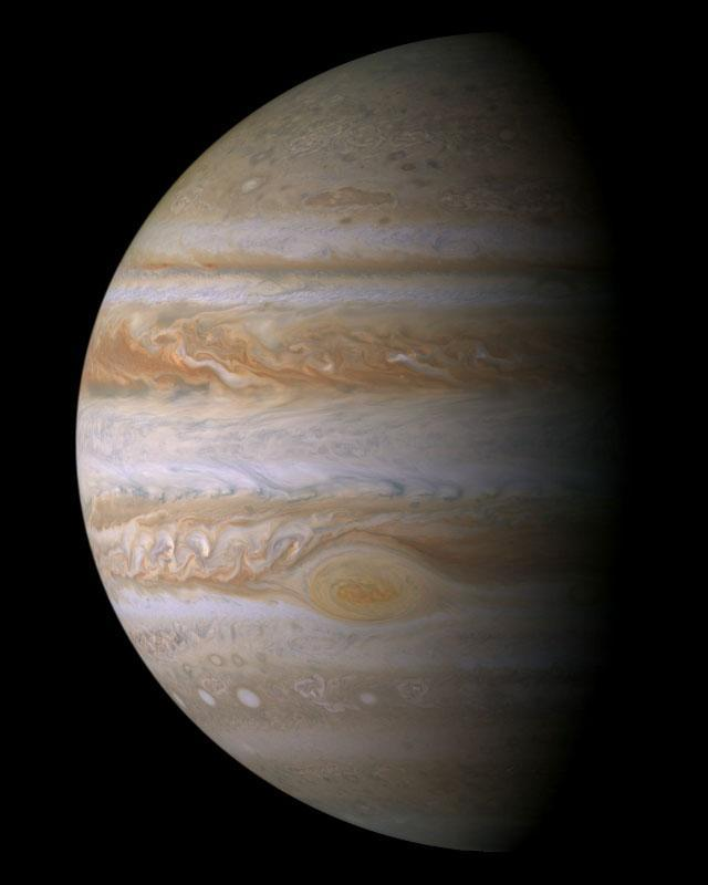 Jupiter Average distance from the Sun: 5.2 AU Radius: 71,492 km (11.2 Earth radius) Mass: 318 Earth mass Average density: 1.