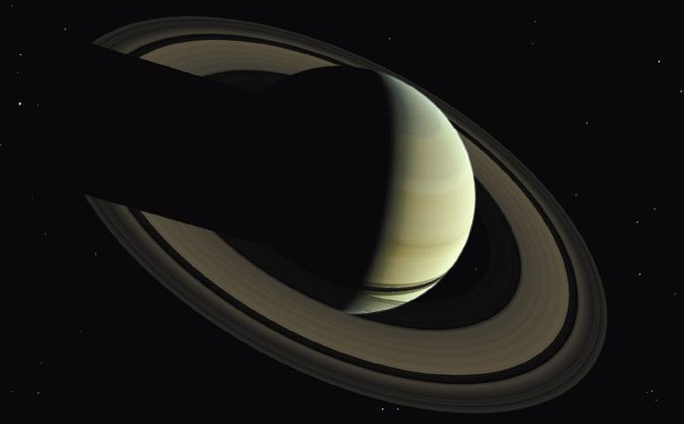 Saturn Average distance from the sun: 9.54 AU Radius: 60,268 km, 9.4 radius of Earth Mass: 95.2 mass of Earth Average density: 0.