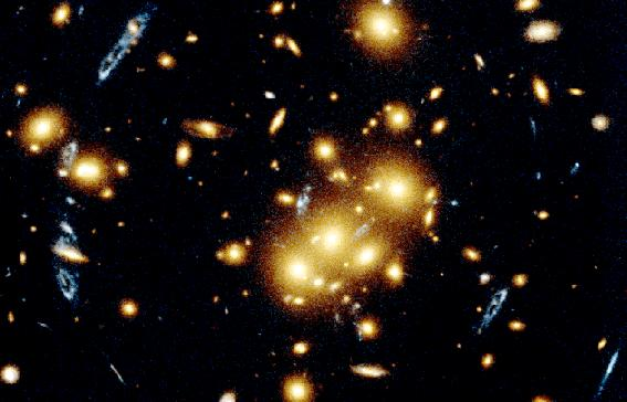 the total mass of the cluster.