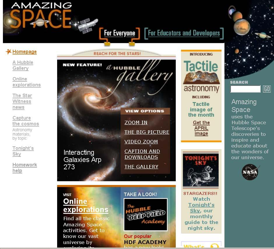 Amazing Space website Formal
