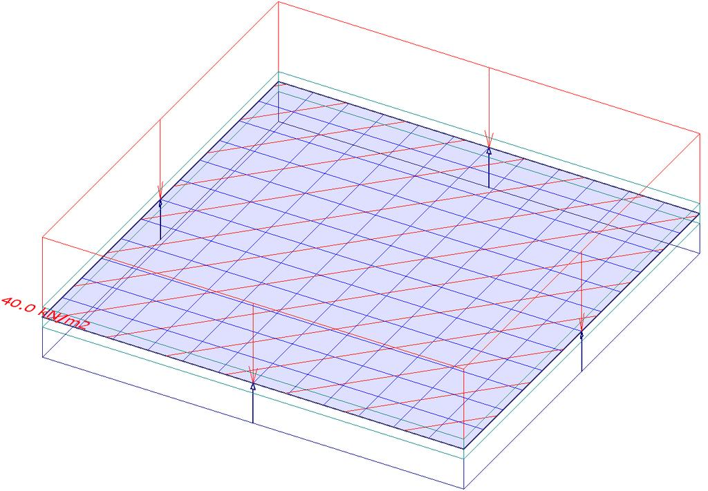FEM-Design 6.0.3 A simply supported square plate with uniform load In this example a simply supported concrete square plate will be analyzed. The external load is a uniform distributed load see Fig..3.. We compare the maximum displacements and maximum bending moments of the analytical solution of Kirchhoff's plate theory and finite element results.