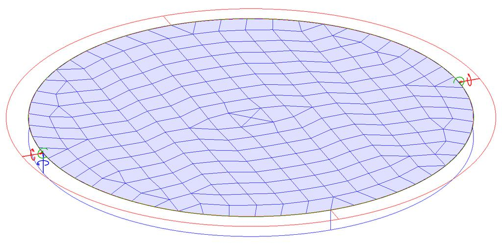 FEM-Design 6.0 4. Free vibration shapes of a clamped circular plate due to its self-weight In the next example we will analyze a circular clamped plate.