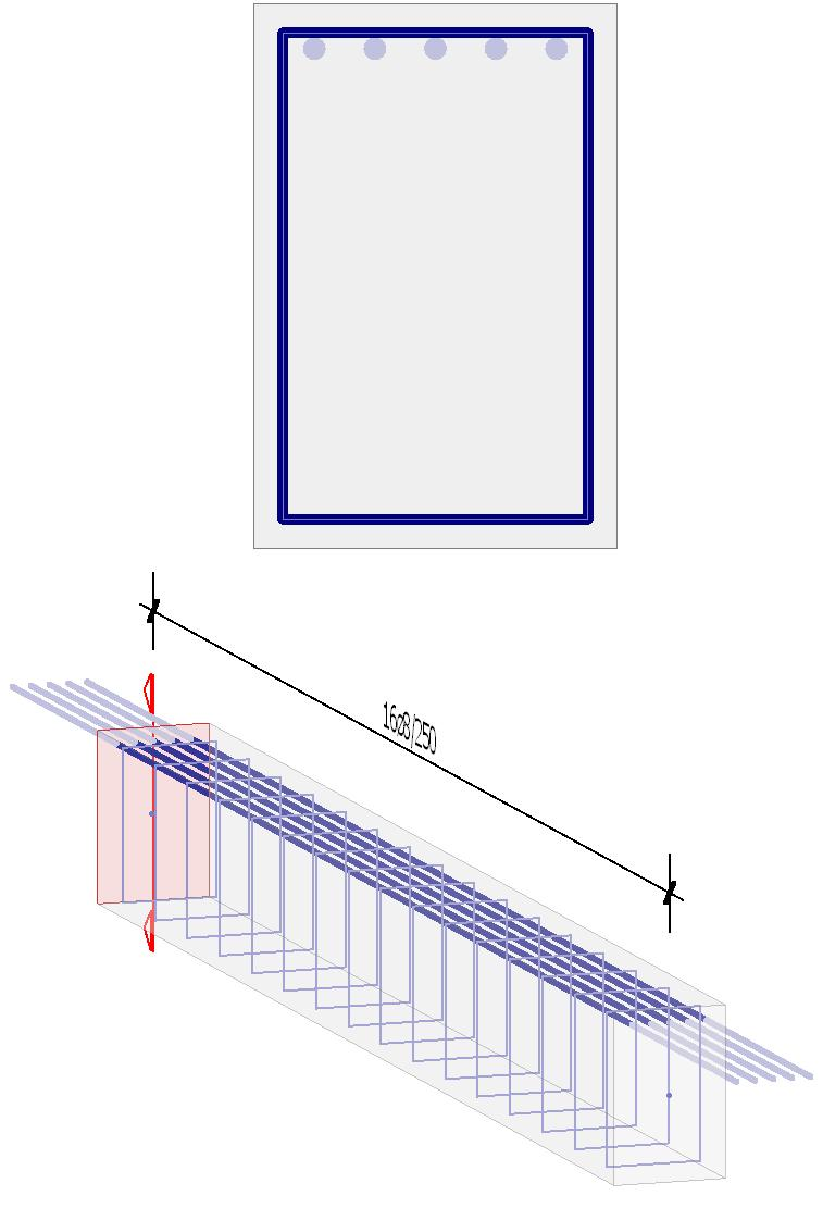 FEM-Design 6.0 We modelled the beam with beam finite elements. In FEM-Design we increased the division number of the beam finite elements to five to get the more accurate results. Figure 7.