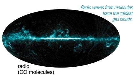 Radio (CO) Visible Radio waves from carbon