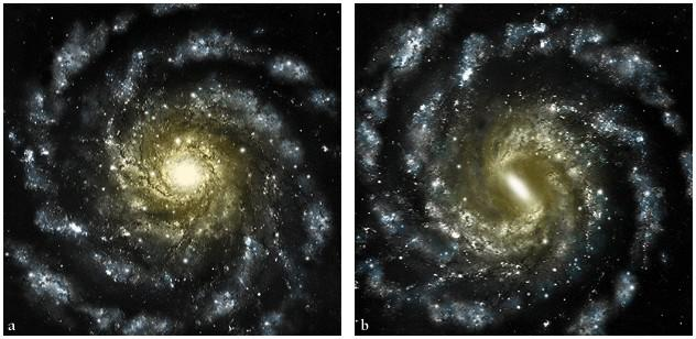 ! Dim, diffuse, interstellar nebulae with spiral structure were seen in the 17 th century.