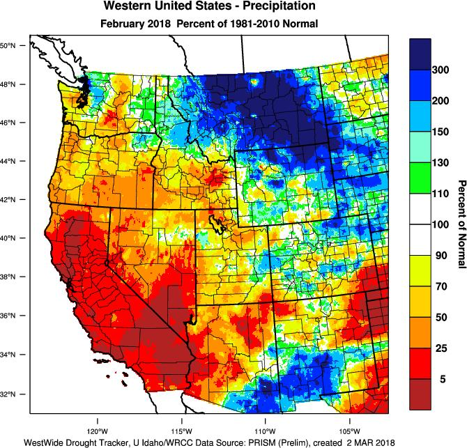 for a return of winter. Welcomed rain and snow has helped lower drought conditions but not enough to make up the dry winter so far. Cooler conditions have also slowed spring growth.