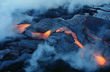 2. volcanic or extrusive- rocks that form when lava cools, (lava is the term that describes magma that reaches